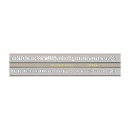 Šablóna písmenková, ISO 3,5 mm