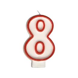 """Sviečka číslová """"8"""" 75 mm"""
