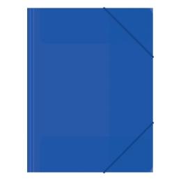Zakladacia mapa 3-chlopňová, s gumou, modrá
