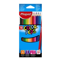 "Pastelky trojhranné MAPED ""COLOR`PEPS"", 12 ks"