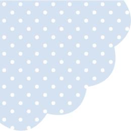 Obrúsky PAW R 32 cm dots light blue