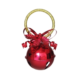 Vianočná dekorácia - červená rolnička 10 cm, 1ks