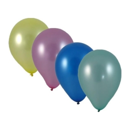 "Balóny nafukovacie metalíza mix ""M"" (10 ks)"