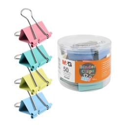 Klip Binder M&G - farebný (50 mm), 12 ks