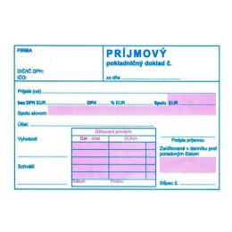 Príjmový pokl. doklad s DPH A6, samopr. (171)