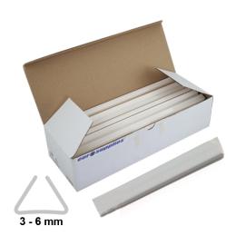 Násuvné lišty Relido 3-6 mm biele