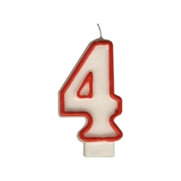"""Sviečka číslová """"4"""" 75 mm"""
