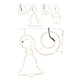 Dekorácia/rôzne tvary - svietiaca 108 svetiel teplá biela, 57 cm