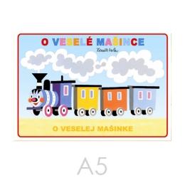 Omaľovánka A5 Akim - O veselej mašinke