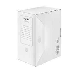 """Archívny box, A4, 150 mm, recyklovaný kartón, LEITZ """"Infinity"""", biely"""