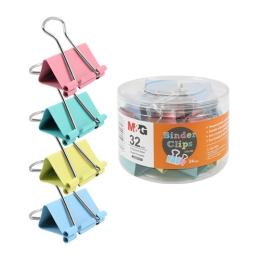 Klip Binder M&G - farebný (32 mm), 24 ks