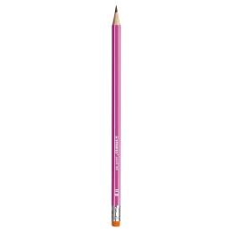 Ceruzka grafitová HB STABILO s gumou - ružová