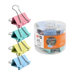 Klip Binder M&G - farebný (41 mm), 24 ks