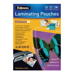 Laminovacia fólia, 80 mikr., A4, lesklá, samolepiaca, 100 ks