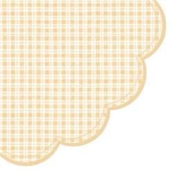 Obrúsky PAW R Chequered beige