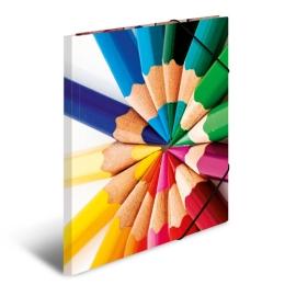 Doska s gumičkou A4 kartón - ceruzky