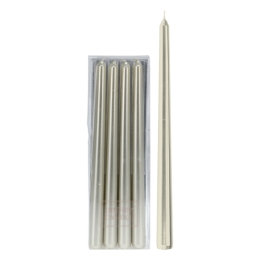 Sviečka - zlatá 30 cm, set 4ks