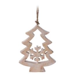 Vianočná ozdoba - drevená, stromček 10 cm, 1ks