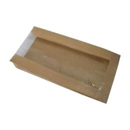 Vrecká papierové s okienkom - pečivo malé /1000 ks
