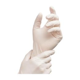 Rukavice latexové biele, nepúdrované, veľkosť L