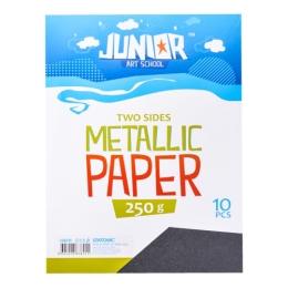 Dekoračný papier A4 10 ks čierny metallic 250 g.