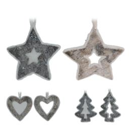 Vianočné ozdoby - drevené, rôzne tvary 13 cm, 1ks