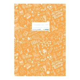 Obal na zošit Schooldoo A4 oranžový /1ks