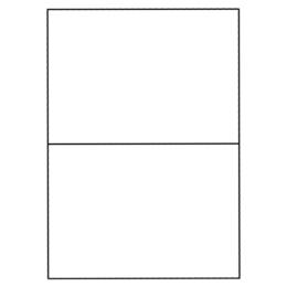 Etikety PRINT 210 x 148,5 biele 2 etikety / A4