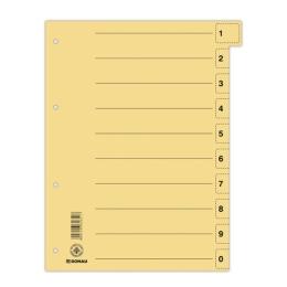 Rozraďovač kartónový odtrhávací žltý