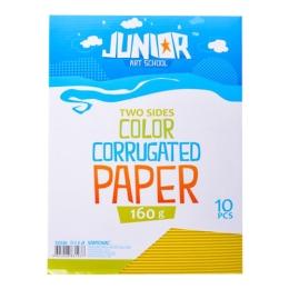 Dekoračný papier A4 10 ks žltý vlnkový 160 g.
