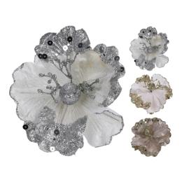 Dekorácia - kvet 15x12 cm, 1ks
