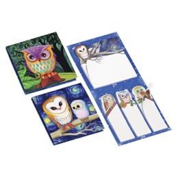 Blok samolepiaci s potlačou 62x69 mm - Owl Design