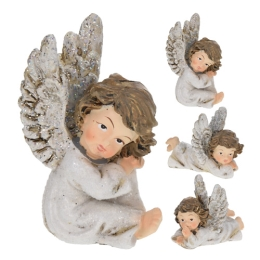 Figúrka keramická Anjel - rôzne druhy 7x5 cm, 1ks