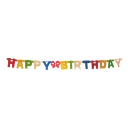 Girlanda Happy birthday 1,5 m
