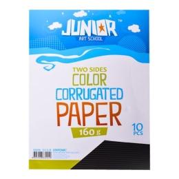 Dekoračný papier A4 10 ks čierny vlnkový 160 g.