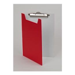 Podložka na písanie, s príklopom, A5, PANTAPLAST, červená-biela