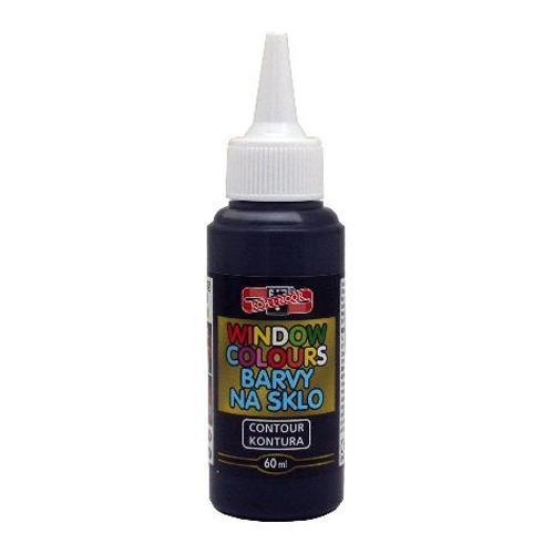 Farba na sklo KOH-I-NOOR 60 ml, čierna