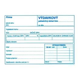 Výdavkový pokl. doklad s DPH A6, samopr. (52)