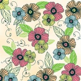 Obrúsky TaT 33X33cm ed dancing flowers