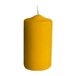 Sviečka valcová pr.60 x 120 mm žltá