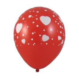 "Balóny nafukovacie biele srdce ""L"" (5 ks)"