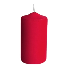 Sviečka valcová 40 x 80 mm, červená (4 ks v bal.)